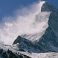 Snow Blows Off Of The Matterhorn by Gordon Wiltsie