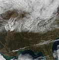 Snow Cover Stretching From Northeastern by Stocktrek Images
