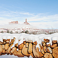 Snow Covered Rock Wall by Thom Gourley/Flatbread Images, LLC