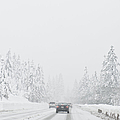 Snow-covered Rural Highway by Dave & Les Jacobs