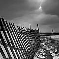 Snow Fence by At Lands End Photography