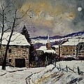Snow In Gendron by Pol Ledent