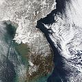 Snow In Korea by Stocktrek Images