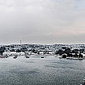 snow in port mahon - A very rare image of a mediterranean villa sided to sea covered of white by Pedro Cardona Llambias