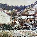 Snow Near Falaise by Claude Monet