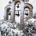 Snow On Campanile by Andonis Katanos
