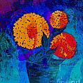 Snowball Plant Abstract 2 by Barbara Griffin