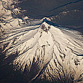 Snowcovered Volcano Andes Chile by Colin Monteath