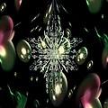 Snowflake Bubble Glass by Maria Urso