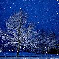 Snowing In The Sapphire Hour 1 by Bruce Ritchie