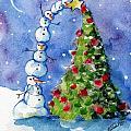 Snowman Christmas Tree by Sylvia Pimental