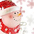 Snowman With Snowflakes  by Simon Bratt Photography LRPS