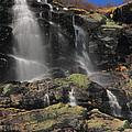 Snowmelt Waterfalls In Tuckermans Ravine by Roupen  Baker