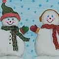 Snowmen 2 by Jessica Hallberg