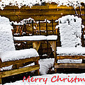 Snowy Coffee Holiday Card by Debra and Dave Vanderlaan