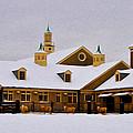 Snowy Day At Erdenheim Farm by Bill Cannon