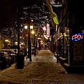 Snowy Downtown by Laurianna Murray