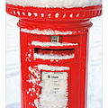 Snowy Pillar Box by Mal Bray