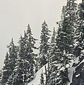 Snowy Ridge Near Snoqualmie Pass by Gordon Wiltsie