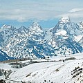Snowy Tetons by Lucy Bounds