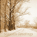 Soft Sepia Season's Greetings by Carol Groenen