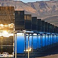 Solar Power Plant At Sunrise by David Nunuk