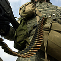 Soldier Mans A Vehicle Mounted 7.62 Mm by Stocktrek Images
