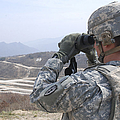 Soldier Observes An Adjust Fire Mission by Stocktrek Images