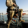 Soldier Stands Watch Aboard Uss Momsen by Stocktrek Images