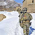 Soldiers Conduct A Patrol In Shah Joy by Stocktrek Images