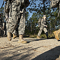 Soldiers Conduct A Ruck March At Fort by Stocktrek Images