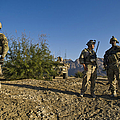 Soldiers Discuss A Strategic Plan by Stocktrek Images