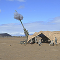 Soldiers Execute A High Angle Fire by Stocktrek Images