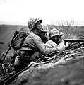 Soldiers Locate Enemy Position On A Map by Stocktrek Images