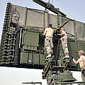 Soldiers Set Up A Tps-75 Radar by Stocktrek Images