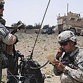 Soldiers Setting Up A Satellite by Stocktrek Images