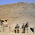 Soldiers Wait For Afghan National by Stocktrek Images