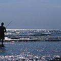 Solitary Angler by Skip Willits