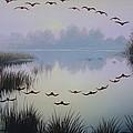 South Lake At Dawn by Oleg Bylgakov
