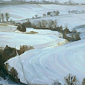 South Limburg Covered With Snow by Nop Briex