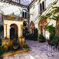 Southern Italy Villa Courtyard  by George Oze