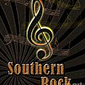 Southern Rock Music Poster by Linda Seacord