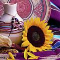 Southwestern Still Life With Sunflower by VJ Lair