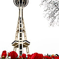 Space Needle In Bloom by Jim DeLillo