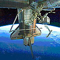 Space Shuttle Atlantis At Iss by Padre Art