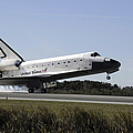 Space Shuttle Atlantis Touches by Stocktrek Images