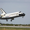 Space Shuttle Discovery Approaches by Stocktrek Images