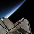 Space Shuttle Endeavour Backdropped by Stocktrek Images