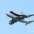 Space Shuttle Enterprise Arrives In New York City by Clarence Holmes