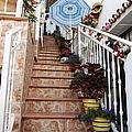 Spanish Steps IIi Tilework In Mijas Spain by John Shiron